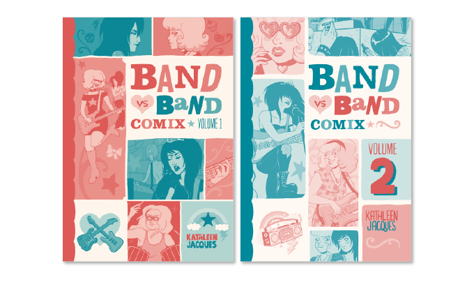 Cover art for the two volumes