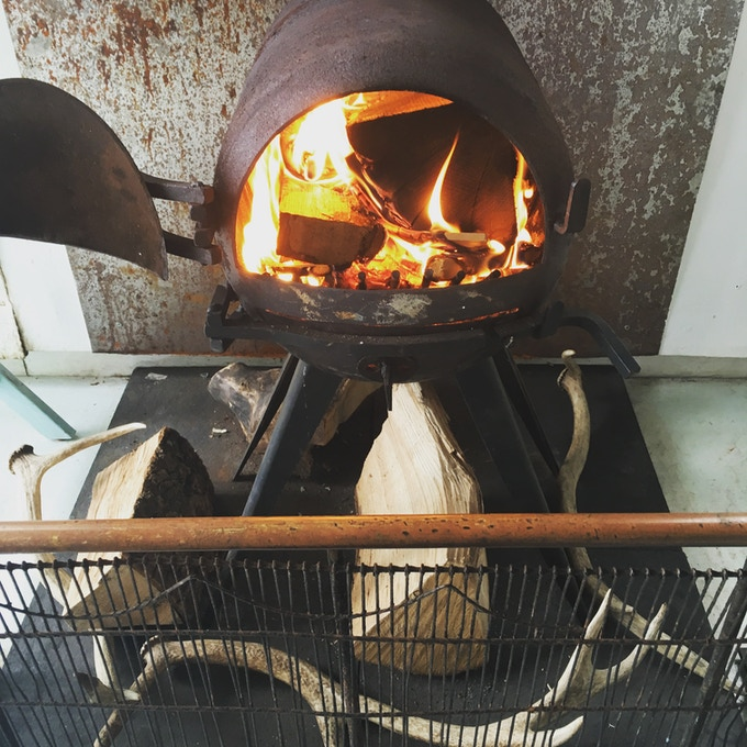 We'll bring the woodburner with us!