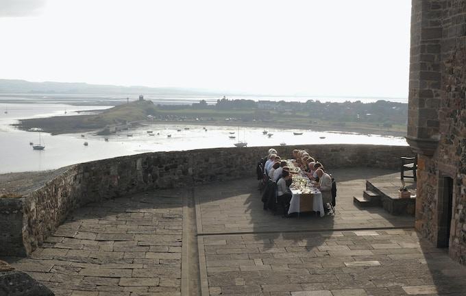 Hosting dinner at Lindisfarne Castle