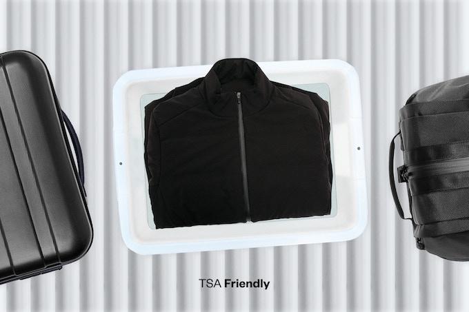 No worries, it's TSA friendly — making it the perfect travel jacket.
