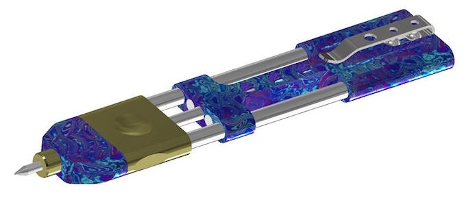 Titanium Damascus CAD Model