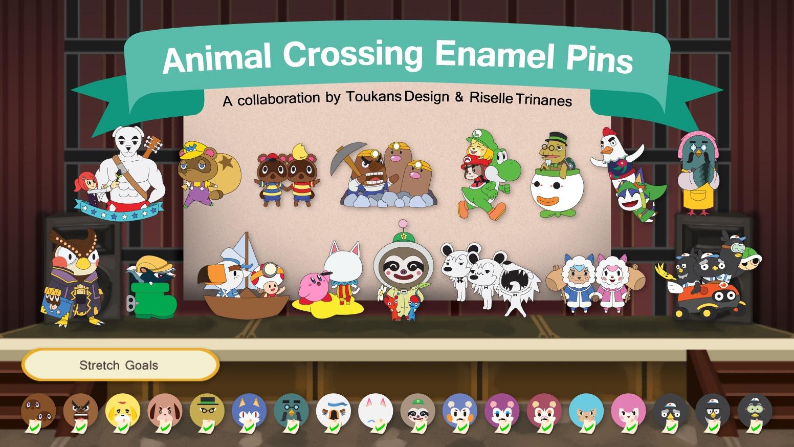 Animal Crossing X Nintendo Enamel Pins By Riselle Trinanes