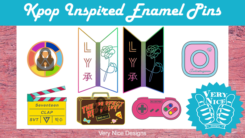 Kpop Inspired Enamel Pins Bts Twice Seventeen Amp More By Very Nice Designs Kickstarter
