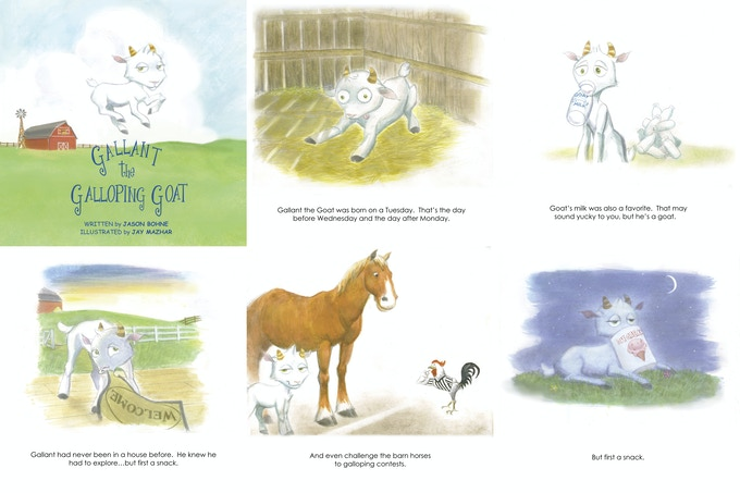 Pics from Gallant the Galloping Goat!