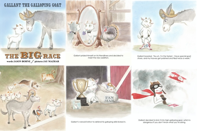 Pics from Gallant the Galloping Goat II: The Big Race!