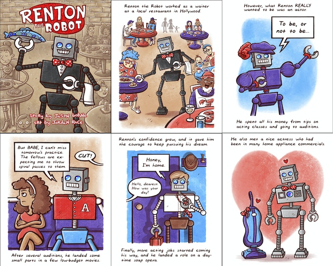 Pics from Renton the Robot!