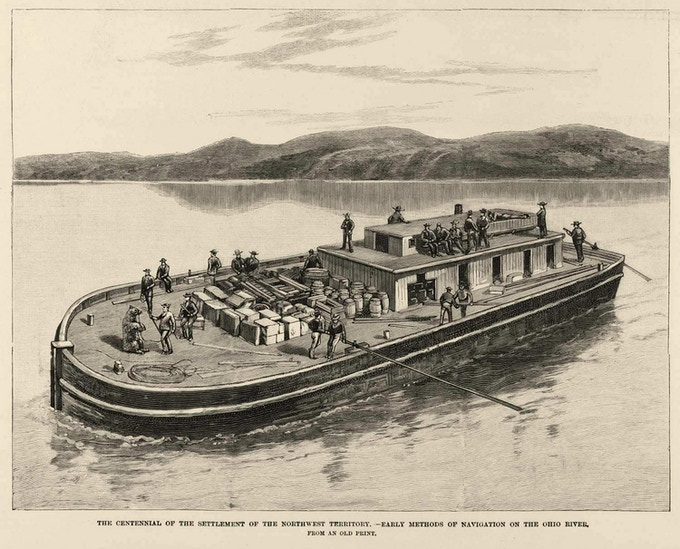 1800's Flatboat Barge