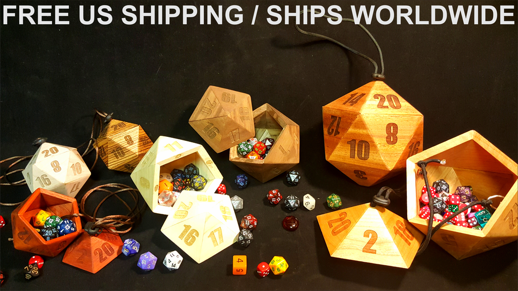D20 Wooden Dice Carrying Cases / Perfect for D&D or any RPG project video thumbnail
