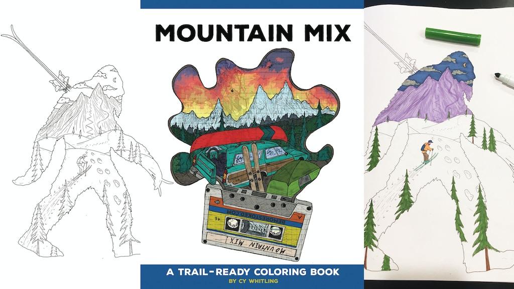 Mountain Mix Coloring book