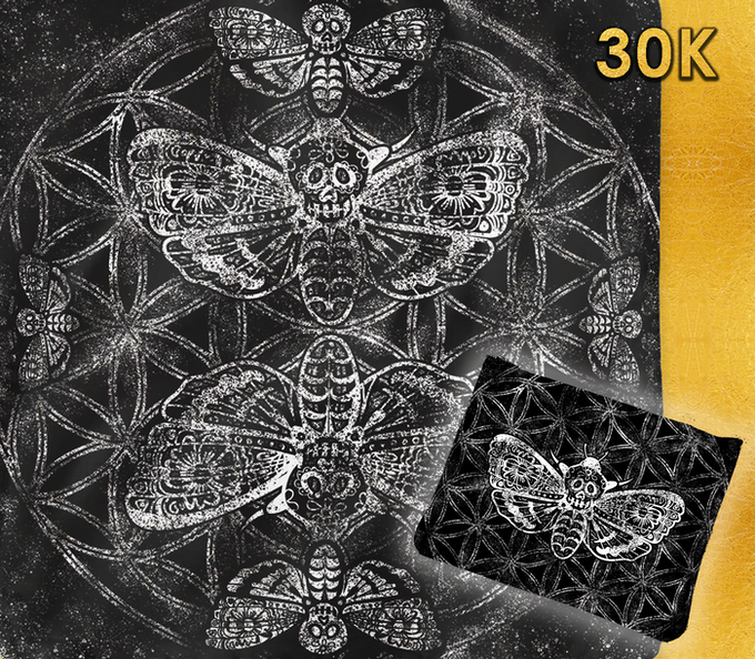 Death Skull Moth Cloth & Case