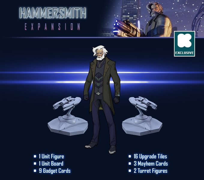 The Hammersmith Expansion is included with every Pledge level.