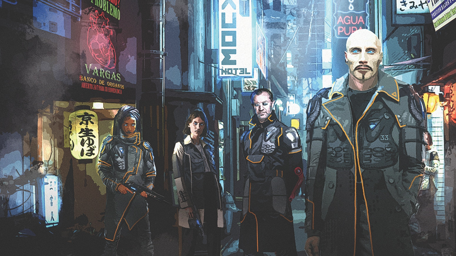 A cyberpunk and climate fiction tabletop roleplaying game that uses the Blades in the Dark system.