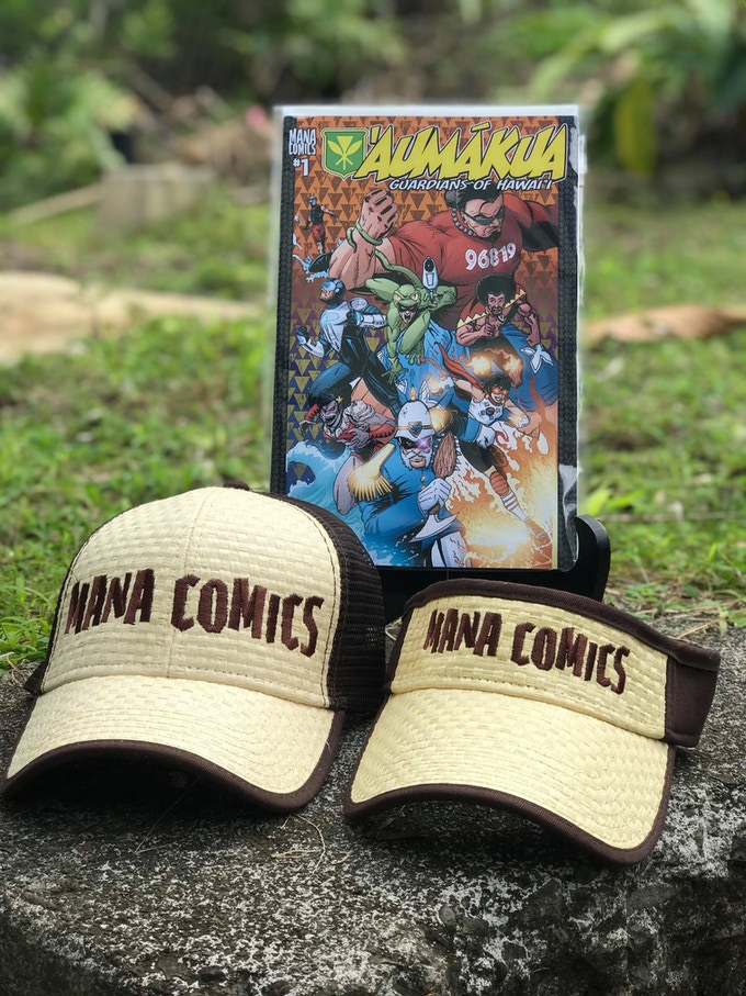 MANA COMICS CAPS AND VISORS