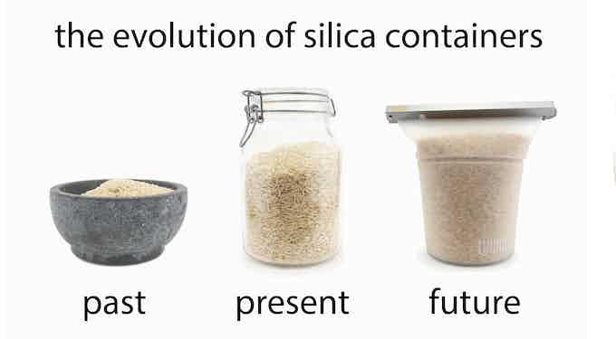 granite, glass and silicone are all made of silica