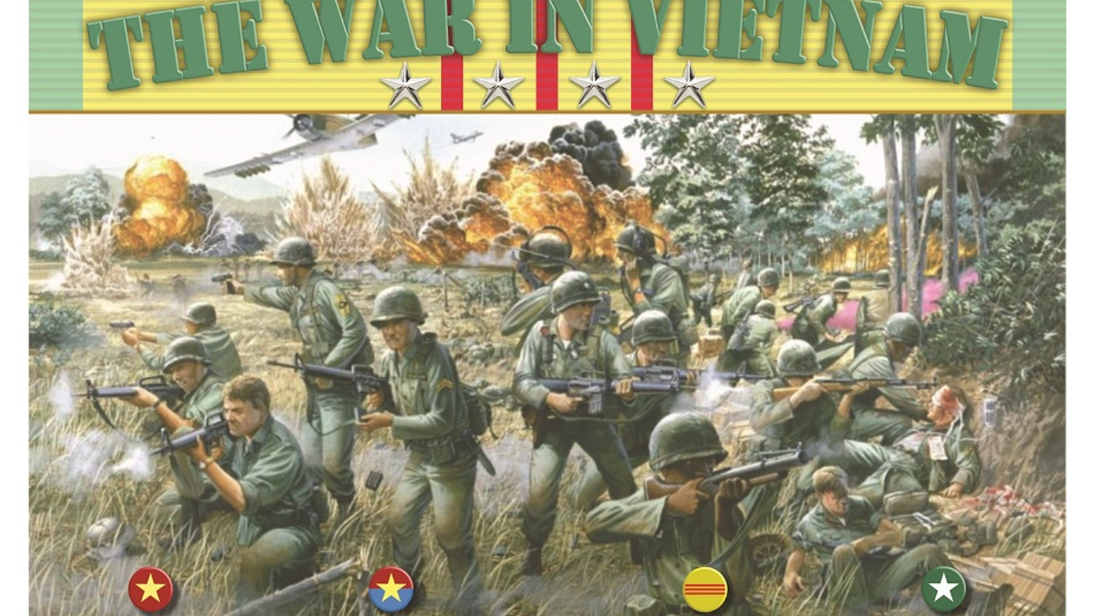 The War in Vietnam grand strategy miniatures war game by Eric Harvey