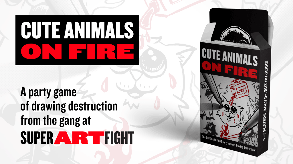Cute Animals On Fire: The Super Art Fight Party Game project video thumbnail