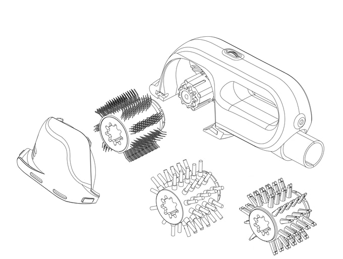 Exploded View with 3 Brush Heads