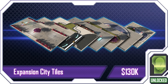 These extra City Tiles allow players to make an even bigger city diorama to play in! And as we all know, bigger is better!