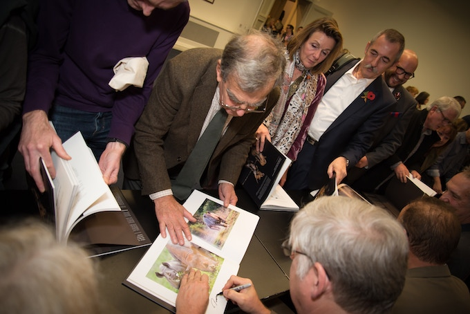 Remembering Rhinos book signing at the RGS launch, Nov 2017