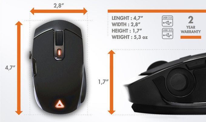 Lexip: Revolutionary Gaming Mouse with 2 internal joysticks