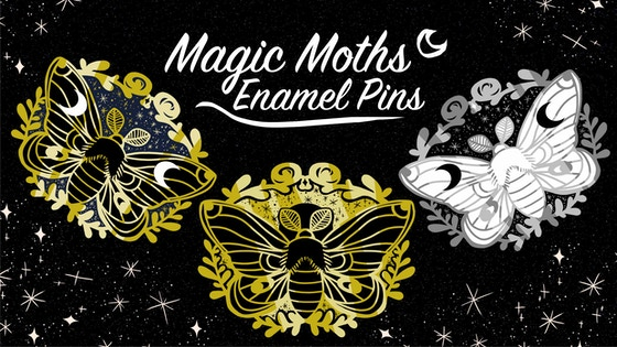 Magic Moths • Enamel Pins