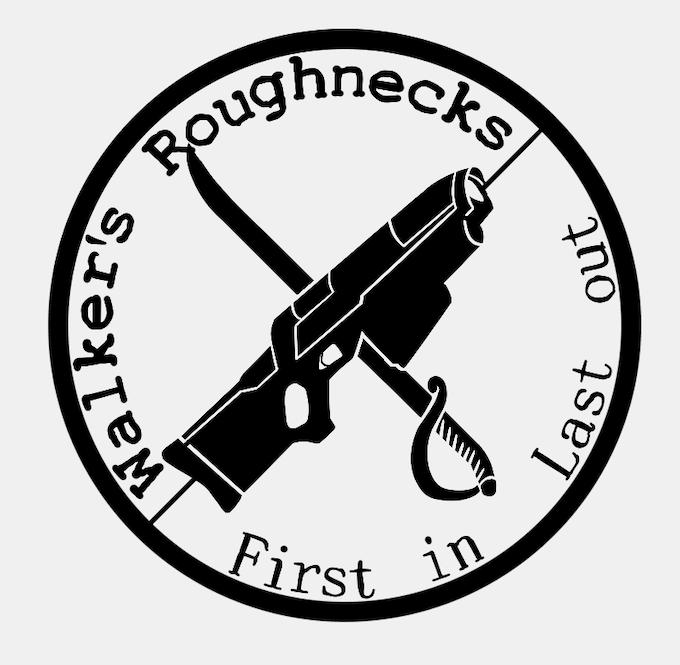 Walker's Roughnecks unit logo