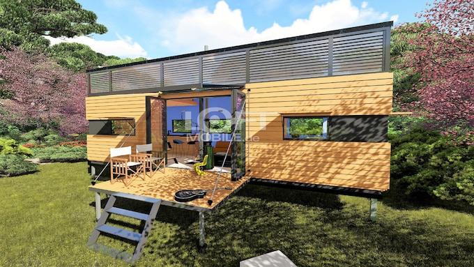 downsizing mittels mobilem tiny house. Black Bedroom Furniture Sets. Home Design Ideas