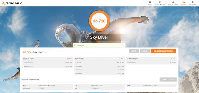 Sky Diver v1.0 on Inferno. Score: 36710