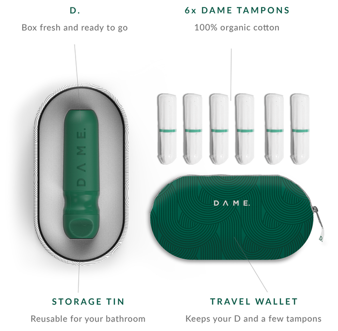 D the first reusable tampon applicator by dame - How to go to the bathroom with a tampon in ...
