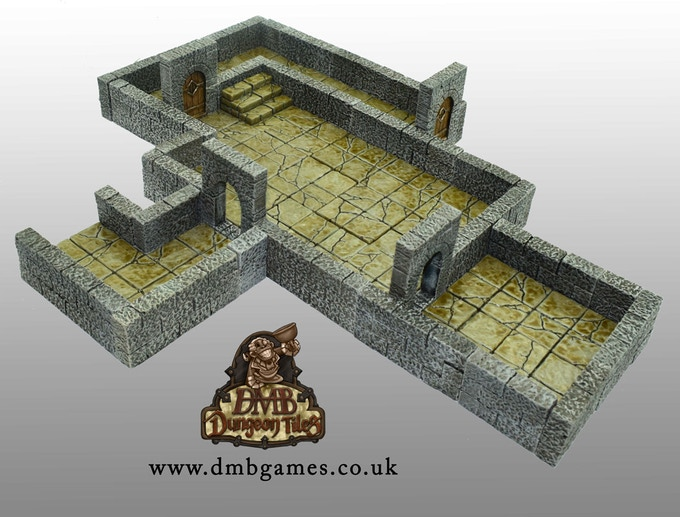 This layout can be made from a Core Set and is available as a room set as well, the Large Entry Room Set.