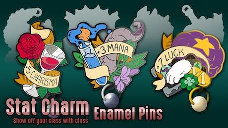 Stat Charm Enamel Pins by Iggi — Kickstarter