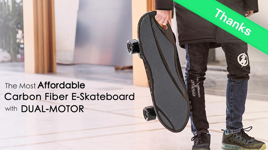 KingKong Pro, Carbon Fiber Dual Motor Electric Skateboard project video thumbnail