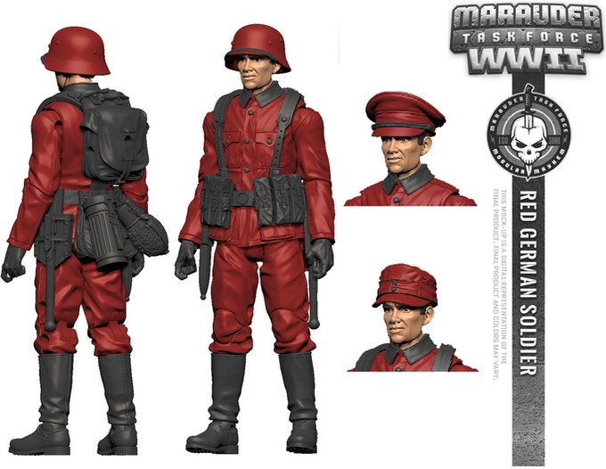 Marauder Task Force WWII 1:18 Scale 4 Inch Action Figures by