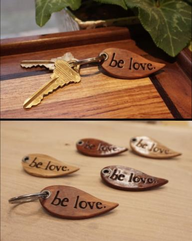 Handmade, Engraved Wood Keychain (locally made)