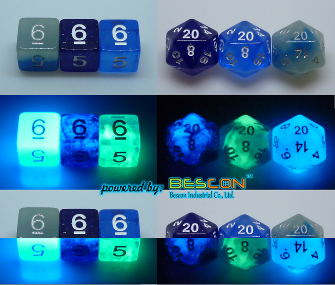 d6 - d20 deep space and northern lights to ICY ROCKS (C)
