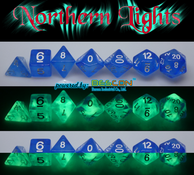NORTHERN LIGHTS polyhedral set day/ night