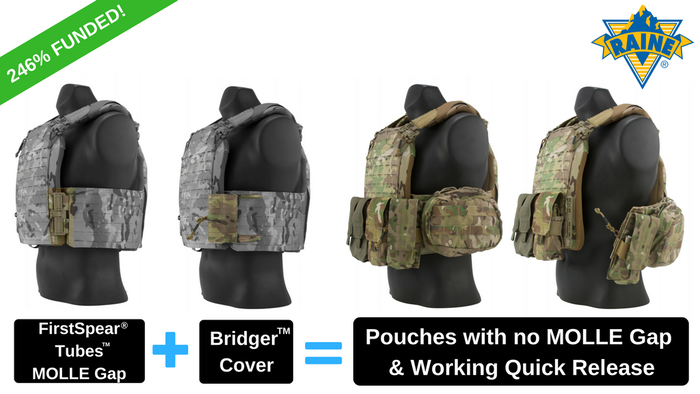 The Bridger™ Cover gives you back the MOLLE real-estate lost from using FirstSpear® Tubes™ quick release hardware on a plate carrier