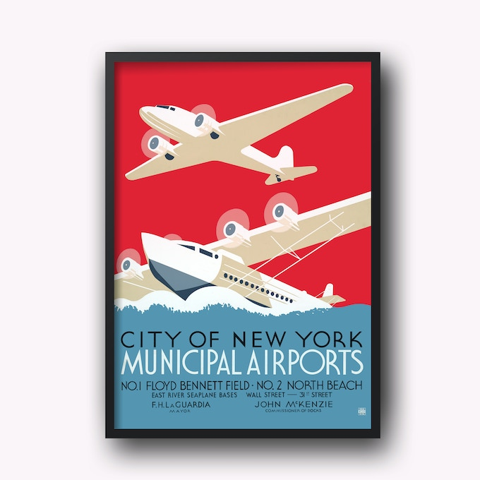 "24 x 36 inch + 70x100 cm Artprint // Posteredition ""AIRPORT"""