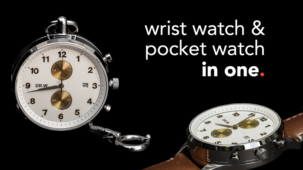A wrist watch and pocket watch in ONE!