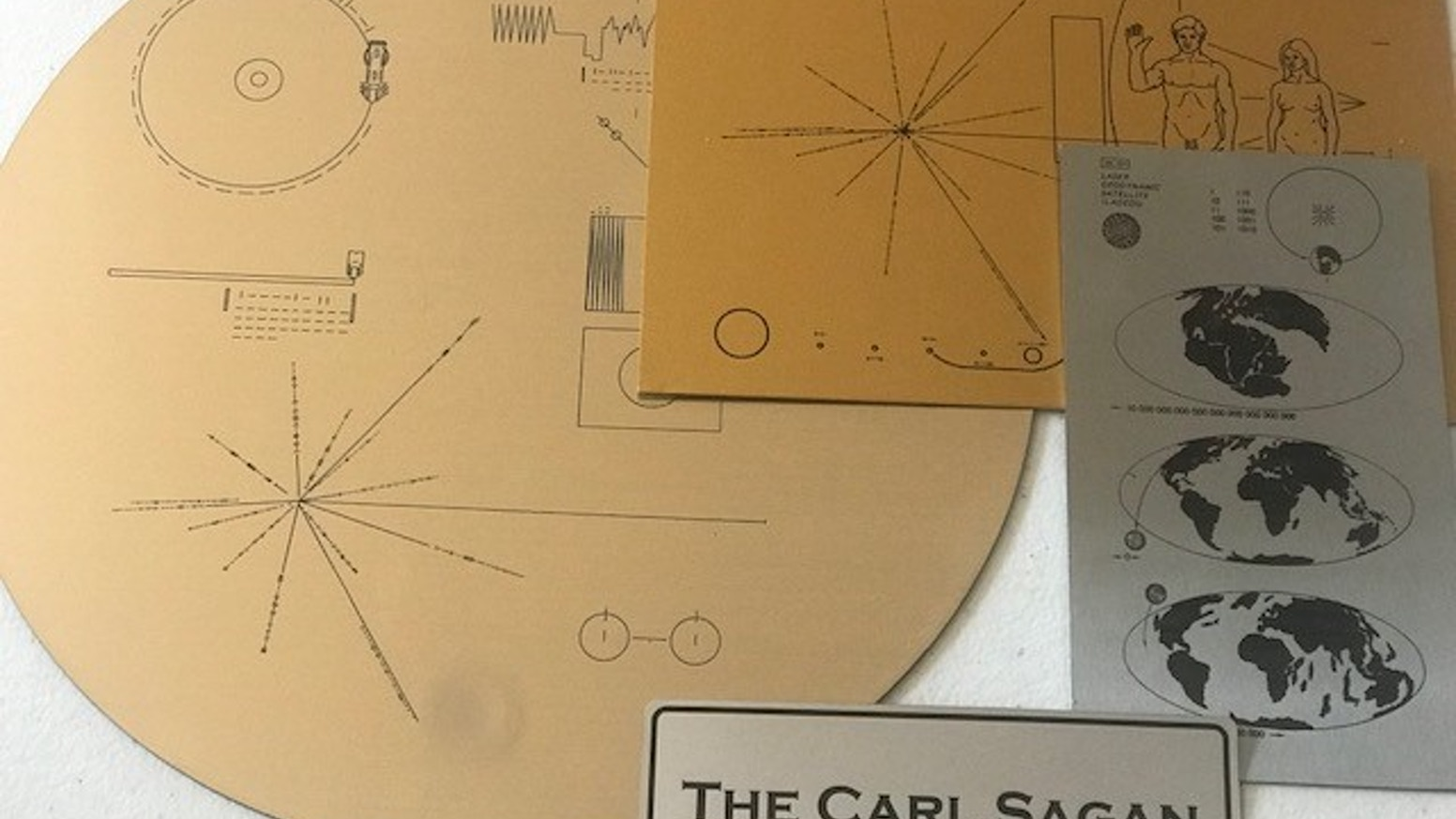 the carl sagan collection spacecraft plaques of the 1970 s by adam