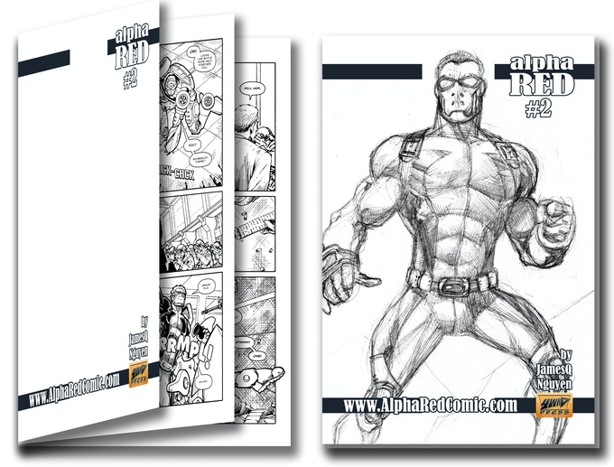 #2 Sketch Cover Rewards With Black & White Interior Pages