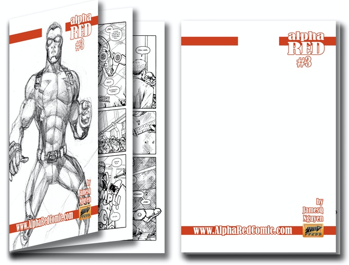 #3 Sketch Cover Rewards With Black & White Interior Pages