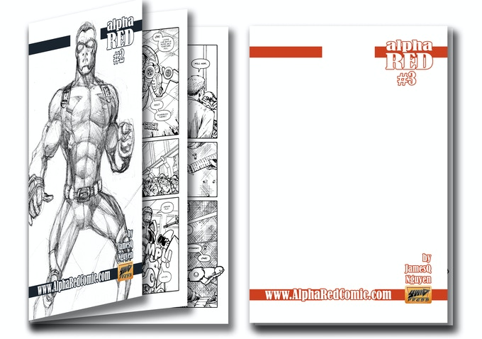 Both #2 & #3 Sketch Cover Rewards With Black & White Interior Pages