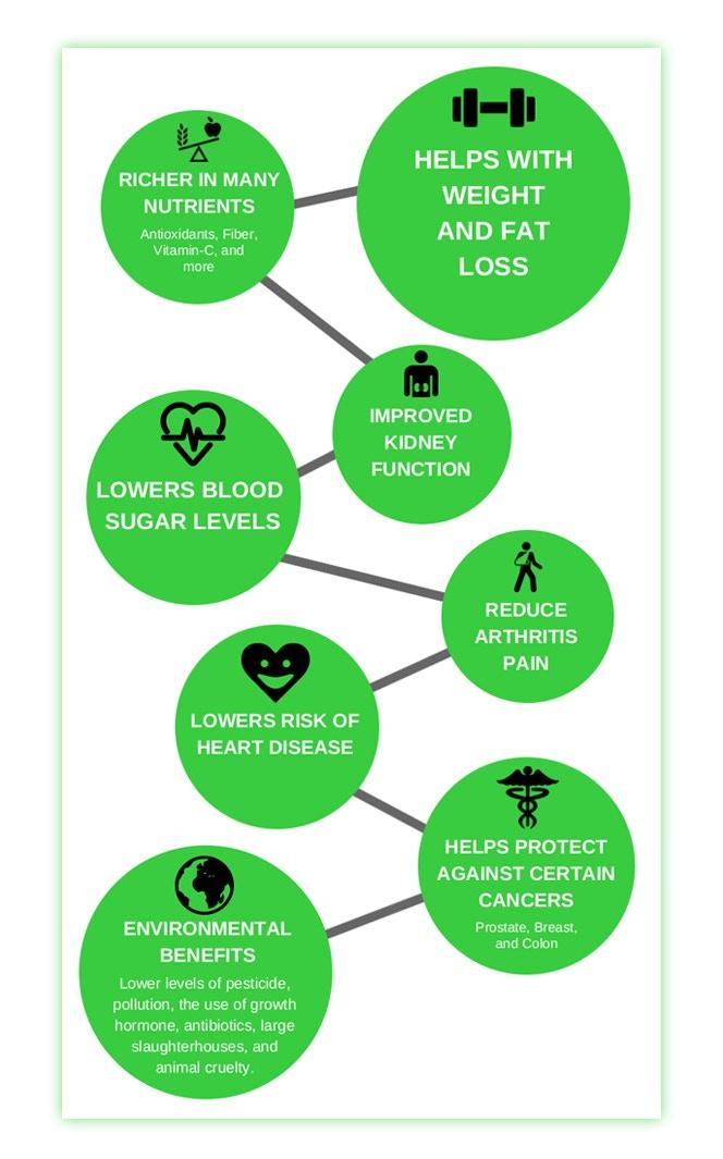 *Source - www.healthline.com/nutrition/vegan-diet-benefits