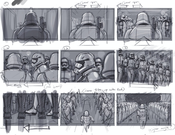 One of our storyboards from James