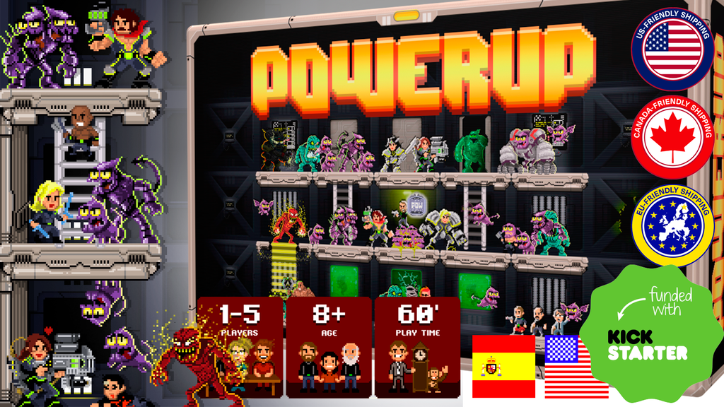 POWERUP the 16bit Board Game project video thumbnail