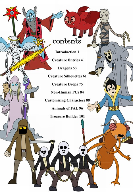 Table of Contents for Creatures Vol. 2
