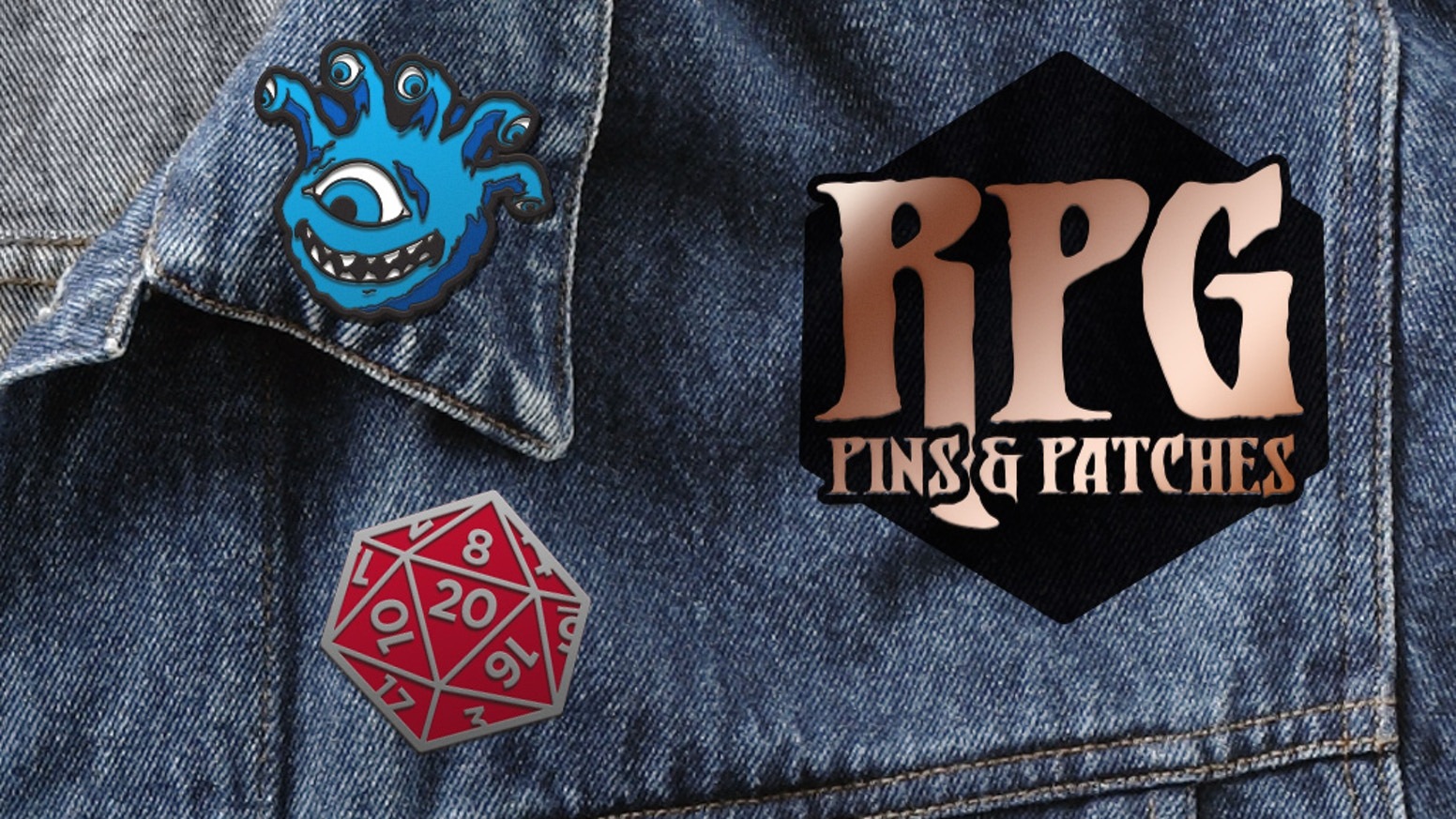 Inspired by classic RPGs we are creating a line of enamel pins & embroidered iron-on patches so we can wear our love of the game!