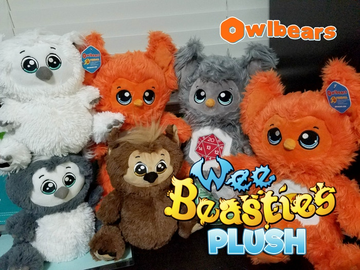 Are you ready to build your Owlbear Army?  Owlbears are adorable, tubby, role-playing game themed plushies!