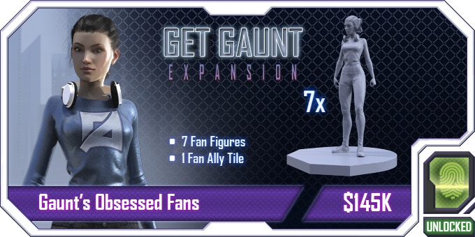 August Gaunt, recording superstar, uses a mix of auto-tune and brainwashing headphones to control the minds of of his fans! With this stretch goal he will be able to manipulate the innocent civilians in the game, giving MAYHEM some real headaches.
